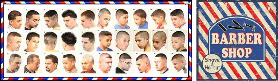 Barber Guide : Barber Shop Haircut Style Guide